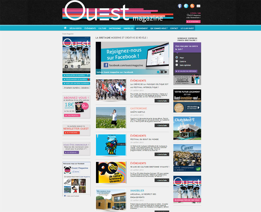 01 - Accueil Ouest Magazine