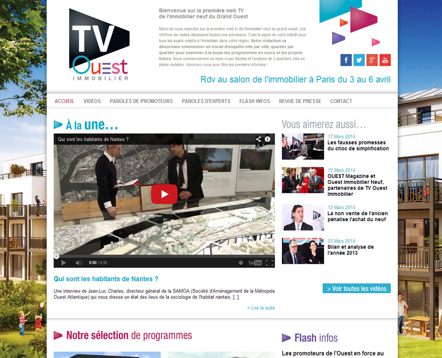 02 - Accueil TV Ouest IMMOBILIER