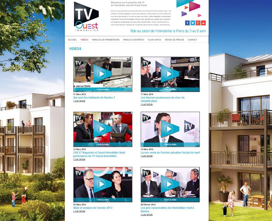 04 - Listing Vidéos TV Ouest IMMOBILIER