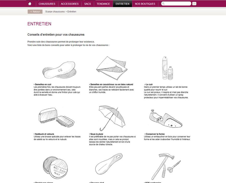 13 - Entretien SCARPE Chaussures