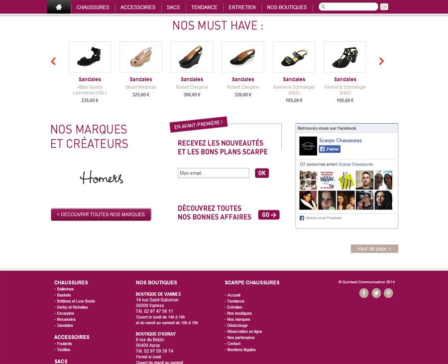 02 - Accueil SCARPE Chaussures