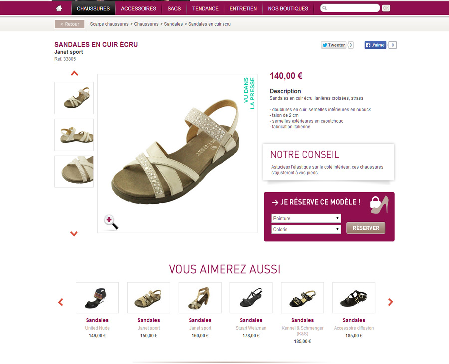 05 - Détail SCARPE Chaussures