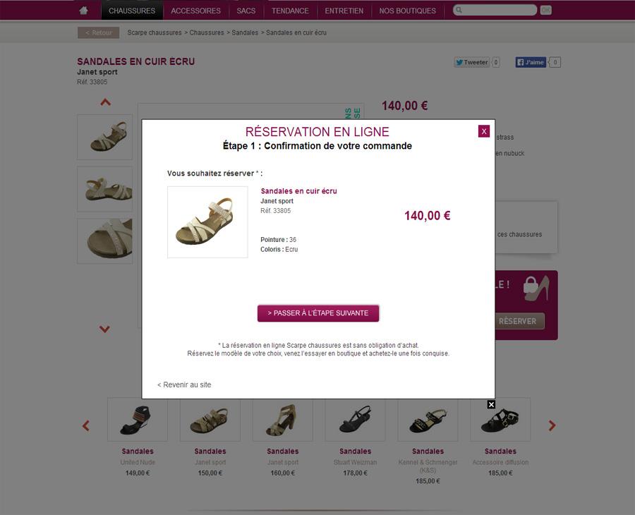 07 - Réservation en ligne SCARPE Chaussures