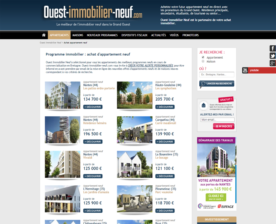 02 - Programmes Listing Ouest Immobilier Neuf
