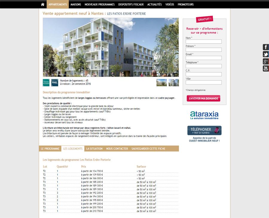 03 - Programmes Détail Ouest Immobilier Neuf