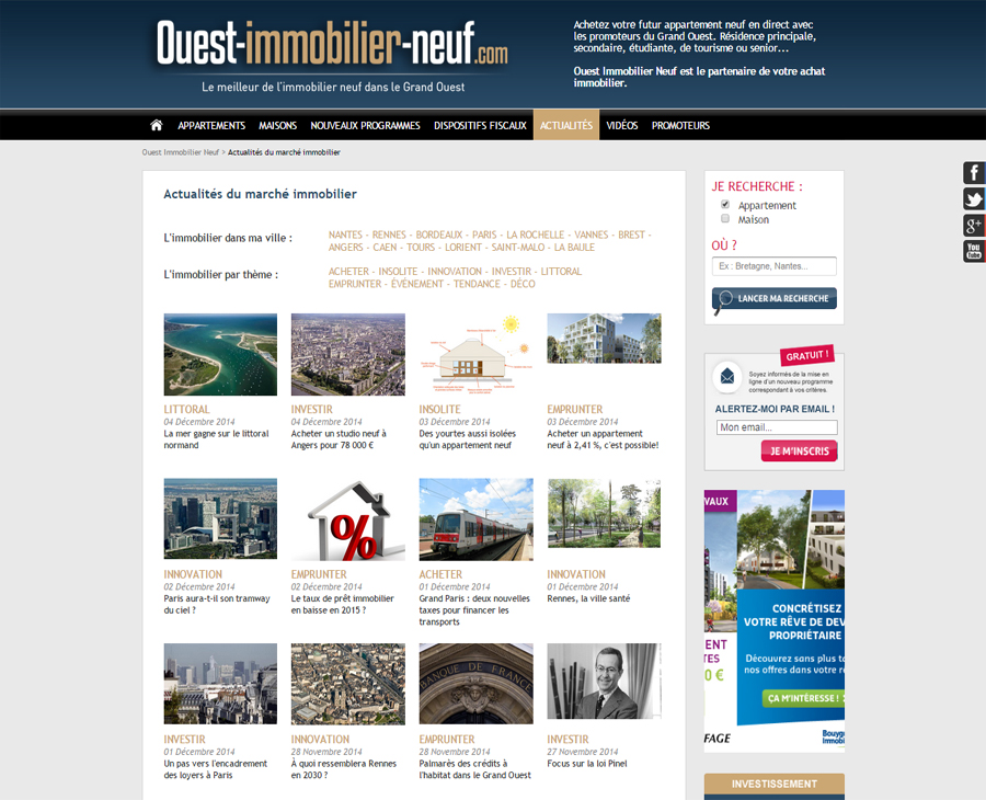 05 - Actualités Listing Ouest Immobilier Neuf